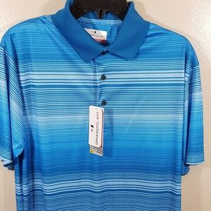NWT MEN BLUE MEDIUM GRANDSLAM SHORT SLEEVE (218)